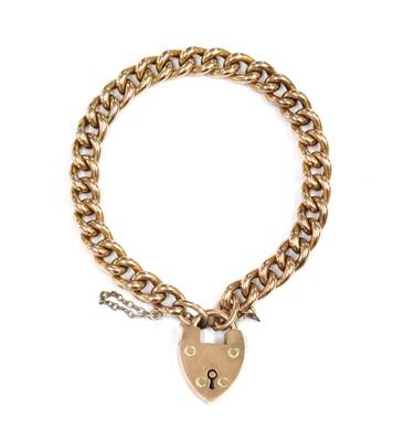 Lot 1102 - A 9ct gold hollow curb link bracelet