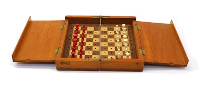 Lot 82 - A travelling chess set
