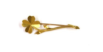 Lot 1055 - A French gold flower brooch