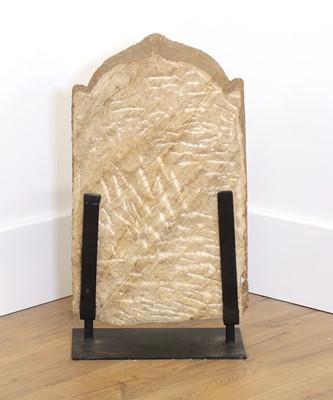 Lot 78 - An Indian sandstone panel stele depicting Varahi