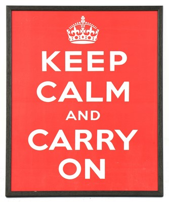 Lot 'Keep Calm and Carry On'