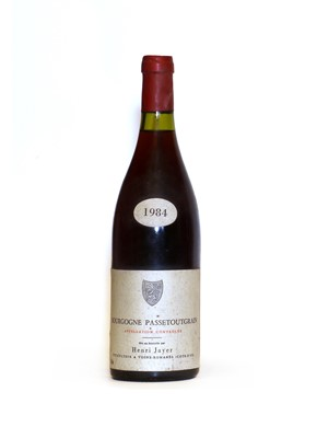 Lot 80 - Bourgogne Passetoutgrain, Henri Jayer, 1984, one bottle