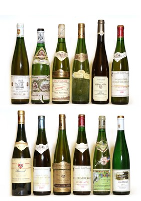 Lot 34 - Assorted German and Alsatian: Tokay Pinot Gris, Schoffit, 1994, one bottle and 11 various others