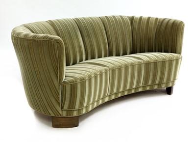 Lot An Art Deco banana-shaped settee