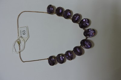Lot 63 - A late Victorian amethyst fringe necklace