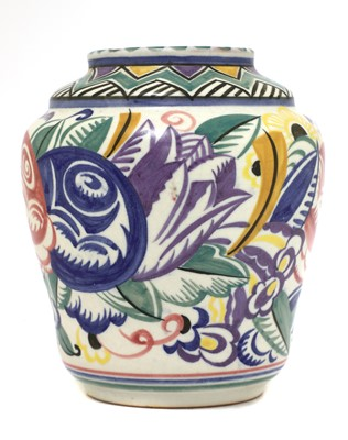 Lot 499 - A Carter Stabler Adams pottery vase