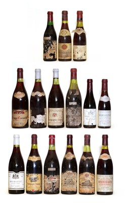 Lot 84 - Assorted Red Burgundy: Echezeaux, Georges Clerget, 1984, one bottle and 14 variously sized others