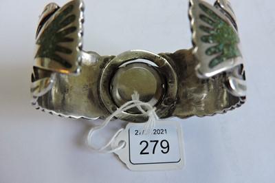Lot 279 - A silver Navajo bangle