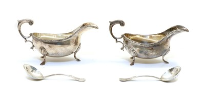 Lot 18 - A pair of Silver Jubilee silver sauce boats by the Silver Club, London