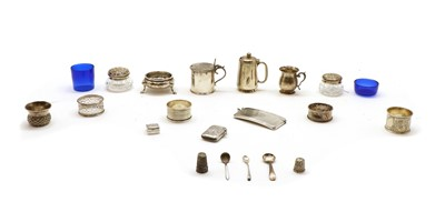 Lot 12 - A collection of silver items