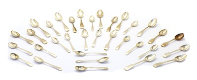 Lot 37 - A large quantity of Georgian and later silver flatware