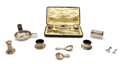 Lot 31 - A Mappin & Webb cased silver manicure set