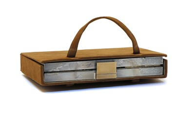 Lot 11 - An Art Deco silver travelling vanity case