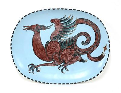 Lot 500 - A Poole Pottery 'Dragon' dish