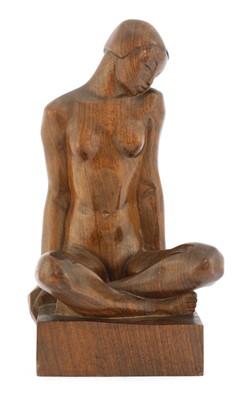 Lot Tcherniak, a carved wood sculpture of a nude