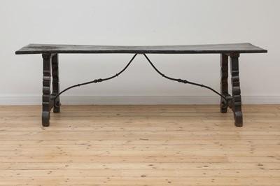 Lot 472 - An oak refectory table