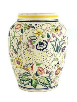 Lot 501 - A Poole pottery 'Persian Deer' vase
