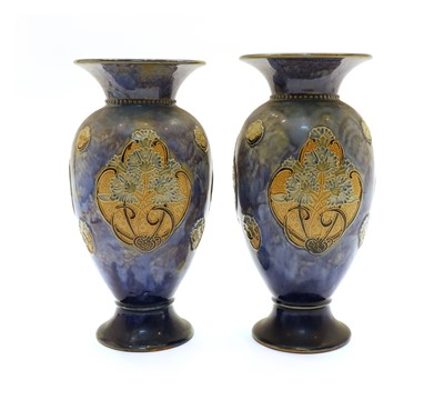 Lot 109 - A pair of Doulton Lambeth Faience vases
