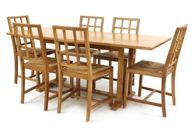 Lot A Cotswold School oak refectory table