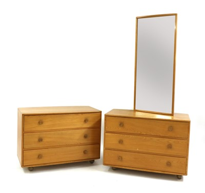 Lot 486 - A pair of Ercol elm chests of drawers
