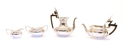 Lot 42 - A Victorian silver four piece tea set