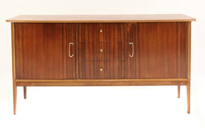 Lot 489 - A Vanson teak and mahogany sideboard