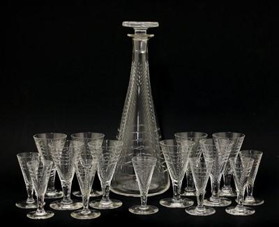 Lot 534 - A cut-glass liqueur set