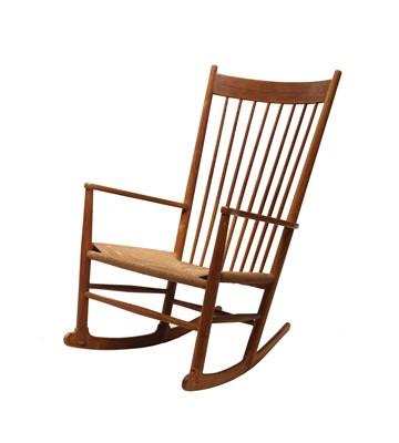 Lot A Danish 'J16' beech rocking chair