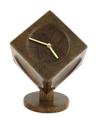 Lot A Danish wenge cube desk clock