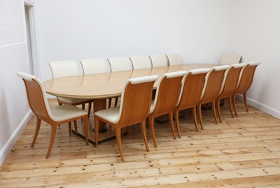 Lot An Italian contemporary maple dining table