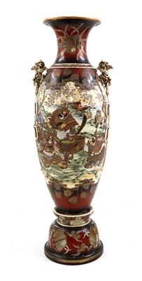 Lot 105A - A large Japanese Satsuma vase