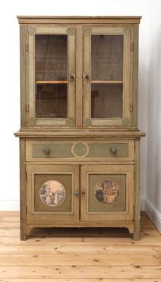 Lot 10 - A painted oak larder cupboard