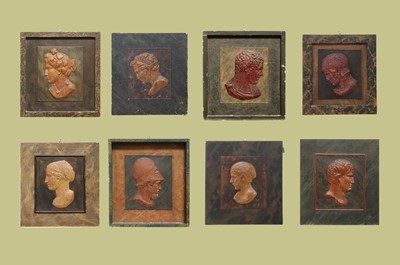 Lot 6 - Eight grand-tour-style relief panels