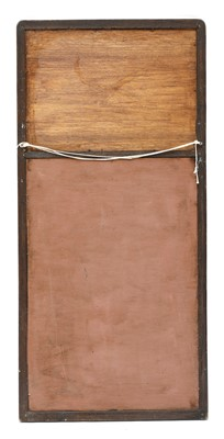 Lot 37 - An Arts and Crafts oak wall mirror