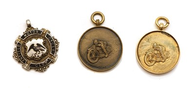 Lot 11 - An Enfield Motor Cycling Club 9 carat gold pendant