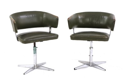 Lot 470 - A pair of 'Scimitar' armchairs