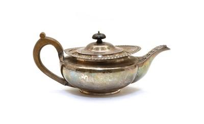 Lot 13 - A silver teapot