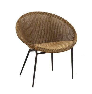 Lot 497 - A Lloyd Loom 'Lusty' woven bucket chair