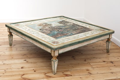 Lot 2 - A large Continental painted wood coffee table