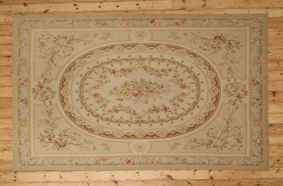 Lot 3 - A flatweave Aubusson design rug