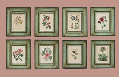Lot 399 - A matched set of eight hand-coloured engraved botanical prints