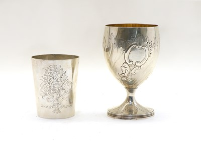 Lot 58 - A George III silver goblet
