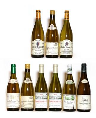 Lot 45 - Assorted Chablis: 1er Cru, Butteaux, Dom Francois Raveneau, 2002, one bottle and 8 various others