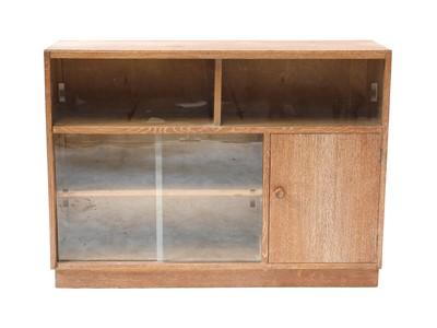 Lot 467 - A limed oak bookcase