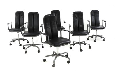 Lot 505 - Six Hille-Ergonom desk chairs