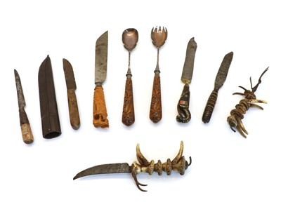 Lot 78 - Nine mixed cutlery items