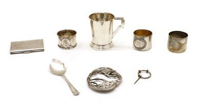 Lot 23 - Silver and silver plated items