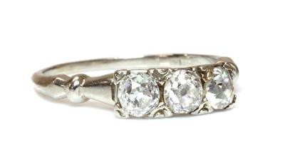 Lot 167 - A three stone diamond ring