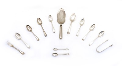 Lot 65 - A collection of silver flatware