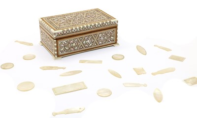 Lot 98 - A collection of Chinese mother of pearl gaming counters